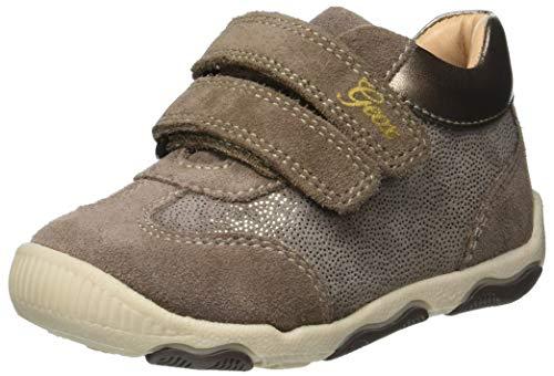 Geox Baby-Mädchen B New BALU' Girl C Sneaker, Beige (Smoke Grey C9006), 23 EU