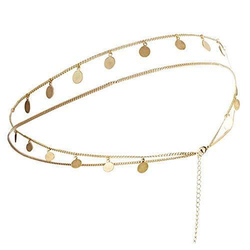 SonMo Stirn Kette Stirnband Stirnband Vergoldet Haarschmuck Kette Stirnkette Kopfkette Haarband Bohemian Quaste Silber Kopf-Kette für Frauen
