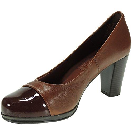 Zapato Salón Piel para Mujer - Marca [Desiree] - Tacón Ancho de...