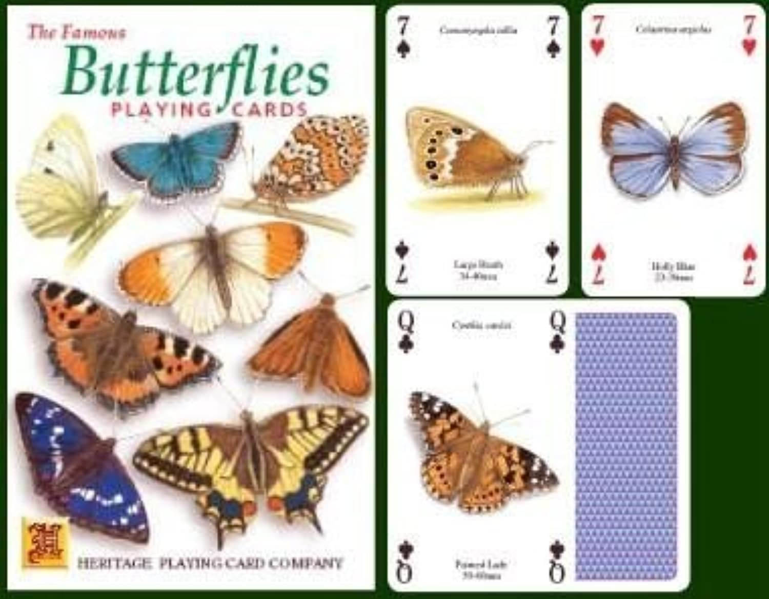 The Famous Butterflies Playing Cards by Heritage Playing Card