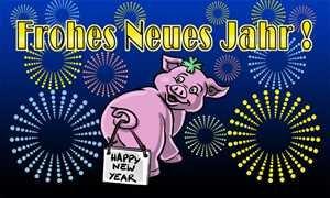 UB Fahne/Flagge Frohes neues Jahr Glücksschwein Silvester 90 cm x 150 cm Neuware!!!