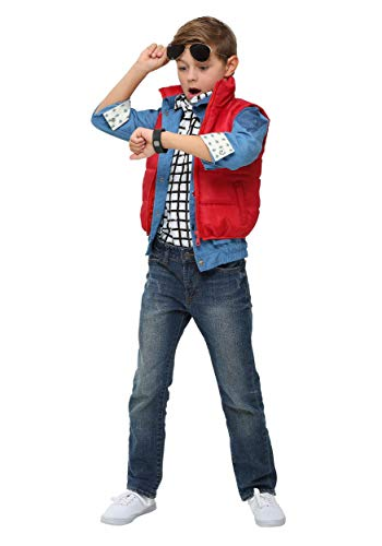 Marty McFly Puffer Vest Costume for Kids. With or without sunglasses. Choice of sizes