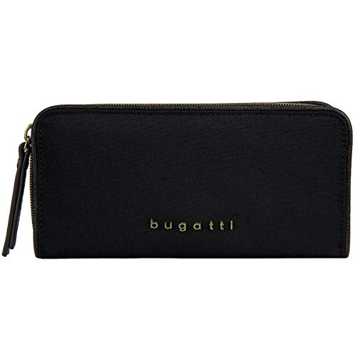bugatti Contratempo portemonnee met Zip Around Wallet Black