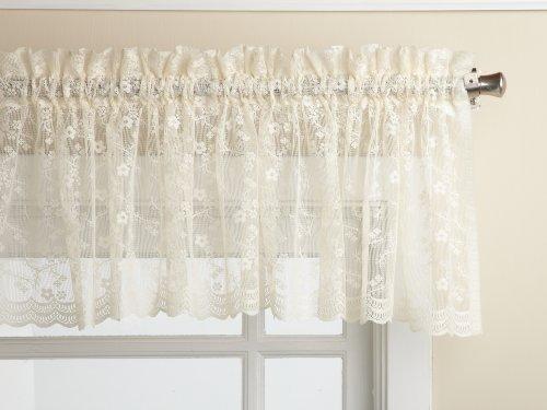 LORRAINE HOME FASHIONS Priscilla 60-inch x 12-inch Valance, Ivory