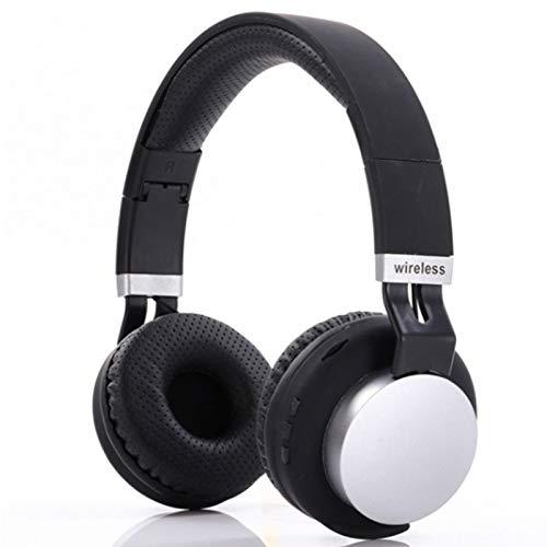 Wsaman Headhpones Ligeros Plegables, Auriculares inalámbricos Bluetooth,con Cancelación Activa de Ruido, para Deportes, Oficina en Casa, Trabajo,Negro