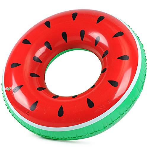 Lezed 120cm Aufblasbare Wassermelonen-Schwimmring Erwachsene Riese Schwimmreifen Luftmatratze Wasserring Donut Schwimmreif Luftmatratze Wasserspielzeug Schwimmbecken Schwimmer Schwebebett schwimminsel