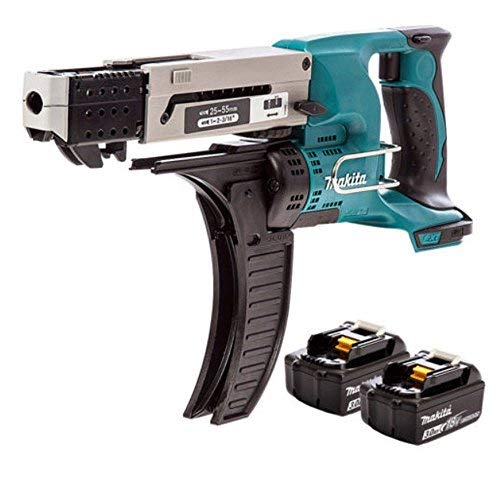 Makita DFR550Z 18v LXT Cordless Auto Feed Screwdriver with 2 x 3.0Ah BL1830 Batteries
