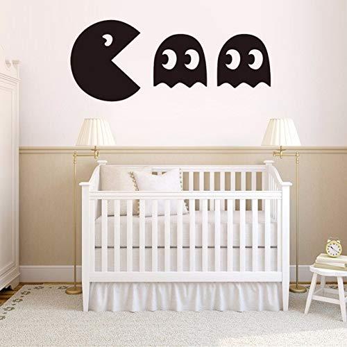 Pacman vinyl wandtattoo wohnkultur wohnzimmer schlafzimmer diy tapete abnehmbare wandaufkleber