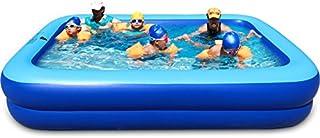 ASL Familia inflada plegable piscina de gran tamano 260 x 170 x 47 cm piscina de arena de la casa al aire libre mas grueso juego piscina de adultos piscina de bolas bano de bano de cilindro de bano ollas Nuevo ( Tamano : 260x170x47CM )