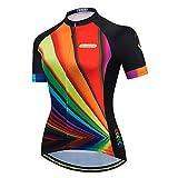 Aogda Cycling Jersey Women Bike Shirts Biking Bib Pants Ladies Cycling Clothing (Jerseys 1, XXL)