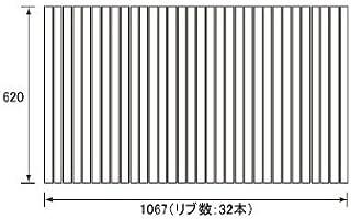 パナソニック Panasonic(松下電工 ナショナル) 風呂ふた(ふろふた フロフタ) 巻きふた RL9RL91022 (RL91022の代替品) 620×1067mm (リブ数:32本)