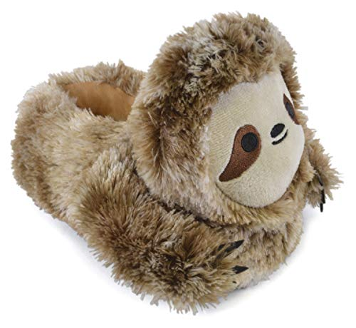 SlumberzzZ Kinder Plüsch 3D Neuheit Sloth Hausschuhe (Medium)