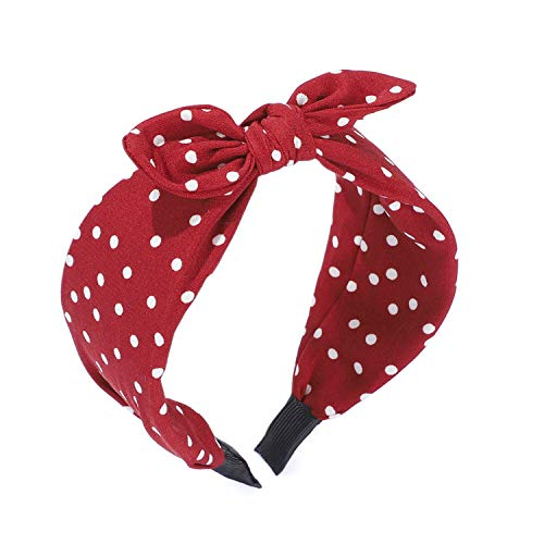 Headband for Women, Etercycle Wide Headbands Knot Turban Hairband, Knotted Hair Band Fashion Elastic Hair Accessories for Women and Girls (Red)