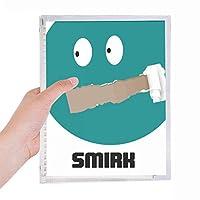 緑の感情Smilkは、挑発します 硬質プラスチックルーズリーフノートノート