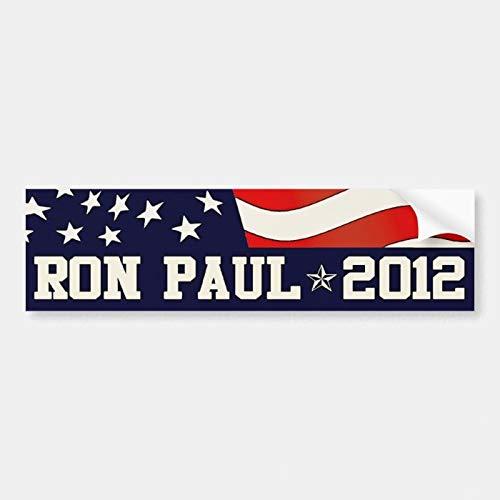 Dom576son - Adhesivo de vinilo para parachoques de Ron Paul President en 2012, pegatinas de vinilo divertidas, impermeable, para coche, parachoques, lancha, ordenador portátil