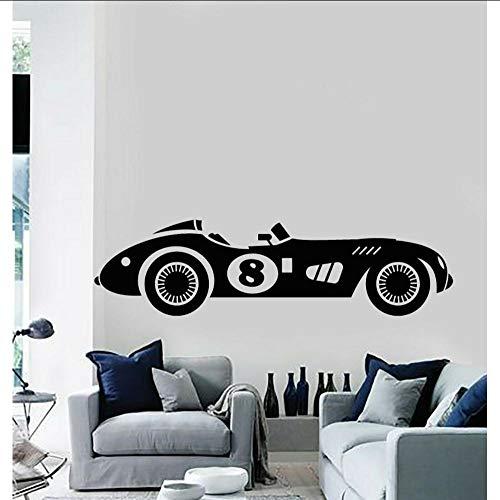 Layyyqx Vinyl Wandtattoo Racing Retro Auto Schnell Muskel Automatische Echte Racing Aufkleber Dekoration 157X42 Cm