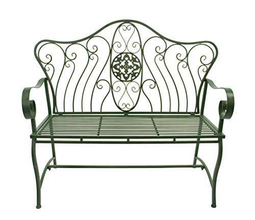 DARO DEKO Metall Sitz-Bank 125cm grün-Gold