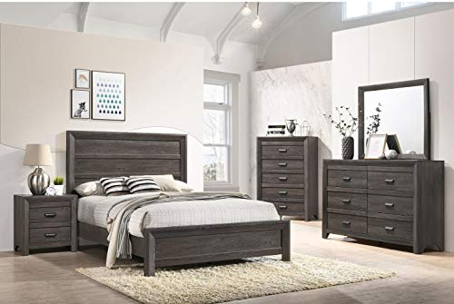 Esofastore Contemporary Bedroom Furniture Twin Size Bed Set Dresser Mirror...