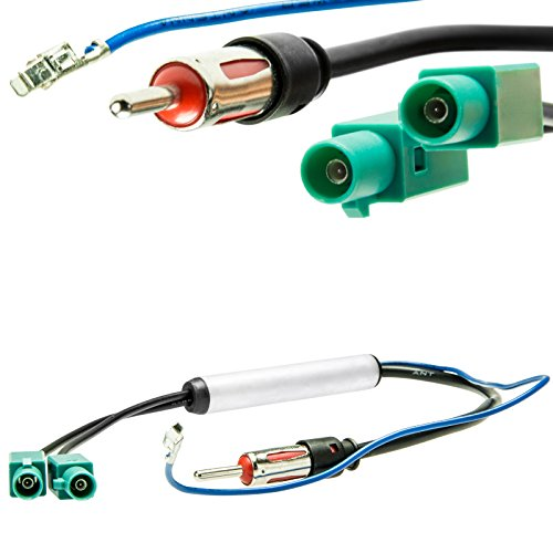 Adapter-Universe DIN radio antenneadapter 2x Fakra Z fantoomvoeding universeel