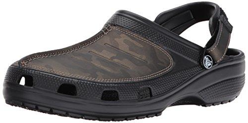 Crocs Men's Yukon Mesa Camo Clog M Mule, Black, 12 M US