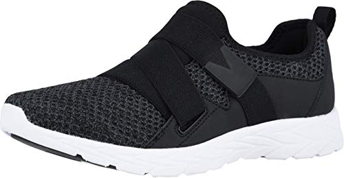 Vionic Women's Brisk Aimmy Walking Shoes - Ladies Athleisure Shoe with Concealed Orthotic Arch Support Black 7 Wide US