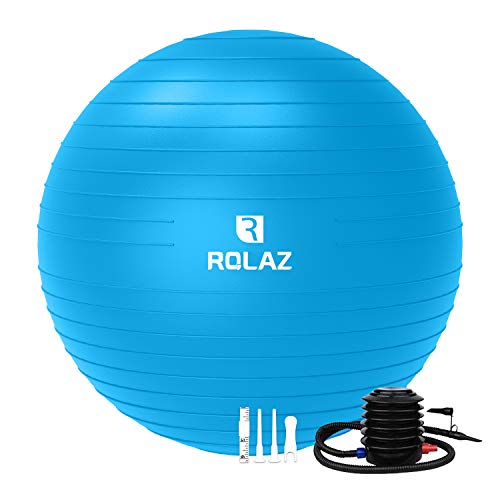 ROLAZ Exercise Ball Yoga Stability Ball Women Pregnancy Birthing Office Chair Ball for Fitness Workout Balance 65cm Blue
