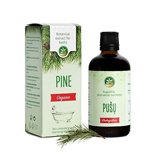 Bio Badeöl mit Kiefer - ätherische Bade Essenz Öle - natürlicher Badezusatz als Aromatherapie - Ölbad für Körper mit entspannendem Aroma - nauturrein, vegan