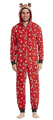 Carolilly Navidad Pijama Familia Ciervos patrón Mono