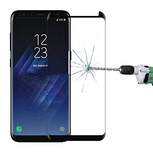 Dchenengjin Moblie Glass Screen for Galaxy S8 + / G955 0.26mm 9H Oberflächenhärte 3D Explosionsgeschützt Nicht voller Randkleber Bildschirm Geschwungenes Gehäuse Freundlich Gehärtetes Glas Film (Schwa
