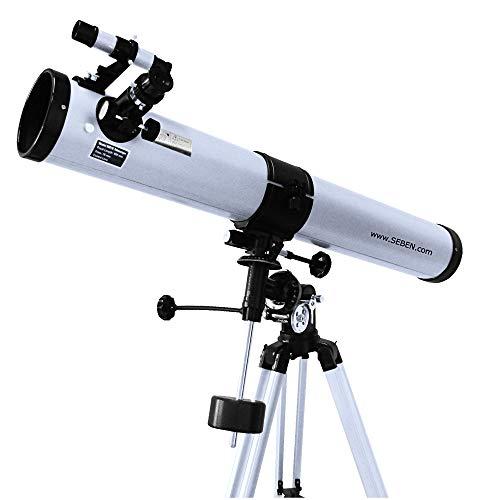 Seben Telescopio 900-76 EQ2 Reflektor Teleskop Spiegelteleskop Fernrohr Astronomie
