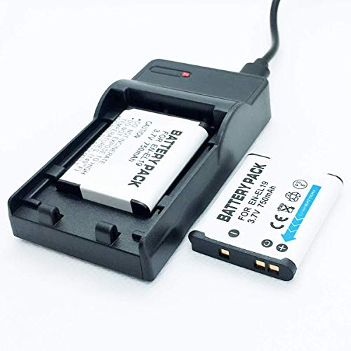 F-MINGNIAN-SPRING Cámaras Quick Battery 2 Pack y Kit de Cargador de Viaje rápido USB de Repuesto Compatible con Nikon Coolpix A100, A300, S32, S33, S100 Accesorios para cámaras Digitales