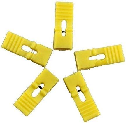 Duurzaam 100 stuks kleur 254 mm steek standaard jumpers met handvat geel