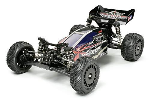 TAMIYA 300158370 1:10 Dark Impact 4WD Buggy DF-03, ferngesteuertes Auto, RC Fahrzeug, Modellbau, Bausatz zum Zusammenbauen, Hobby, Basteln
