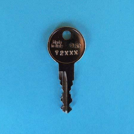 Ersatzschlüssel T-Serie für Bosal Oris Anhängerkupplungen (AHK/AHV). Für AK4 und AK6 Systeme. Schlüssel T - Code 2102
