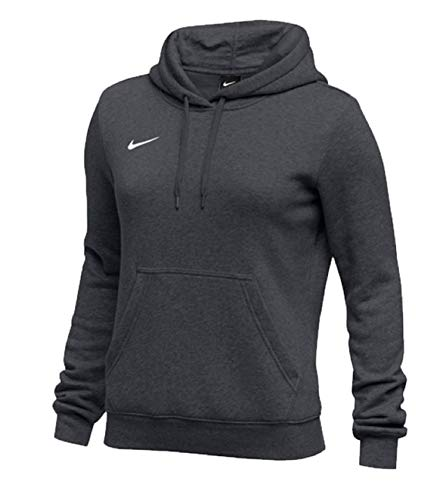 NIKE Womens Pullover Club Fleece Hoodie (Small, Anthracite)