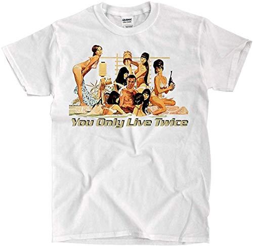 LSL Shirts James Bond - You Only Live Twice - White Shirt - Ships Fast!! (Large)