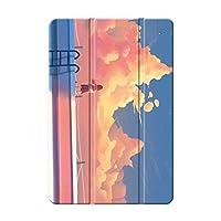 Sepikey iPad 10.2 2019/iPad カバー,アンチドロップ 耐衝撃 PC + PU 三つ折りブラケット 指紋防止 3つ折り スタンド機能付き プロテクターカバー iPad 10.2 2019/iPad Case-Sky