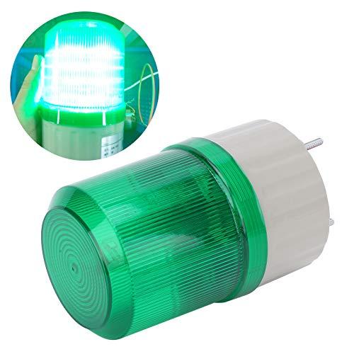 Gaeirt Luz de Advertencia de Emergencia con Cubierta Transparente de Sonido y luz, luz de Advertencia, para Edificios de oficinas para fábricas(Green, Pisa Leaning Tower Type)