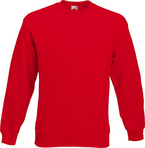 Fruit of the Loom Set-in Sweat Shirt, Rot (Red 400), Medium Homme