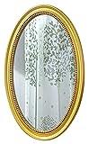 QHHALXZ Espejo de Maquillaje Espejo de Pared Decorativo, Espejos de Maquillaje Colgantes tallados Vintage para decoración de tocador de Sala de Estar de Dormitorio, Espejo de baño Dorado Ant