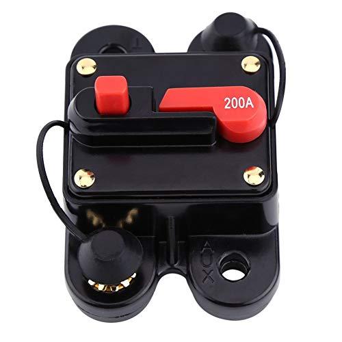 Cortacircuitos DC12V 200A,Circuit Breaker,Interruptor De Circuito Automático,Para El Circuito Del Estéreo Del Automóvil o Un Electrodoméstico Grande Para Automóvil