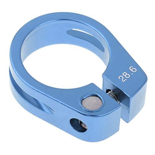 Nobranded - Abrazadera para Tija de Sillín para Bicicleta, Clip para Sillín de Bicicleta, 30/28.6mm - Azul 28.6MM