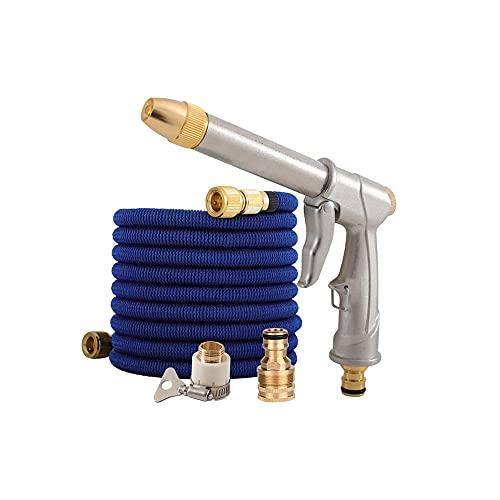 Tubo flessibile per giardino espandibile - Autolavaggio per uso domestico Pistola ad acqua Telescopico Giardino Giardino Set Metallo Spray Pistola Ugello Utensili Attrezzatura Brass Raccordi-100ft.
