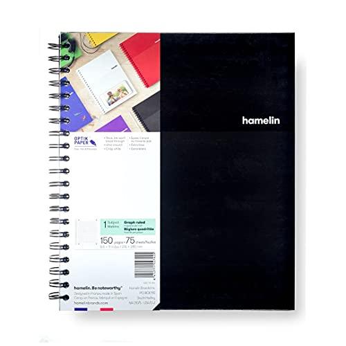 Hard Cover Spiral Bound Grid Notebook