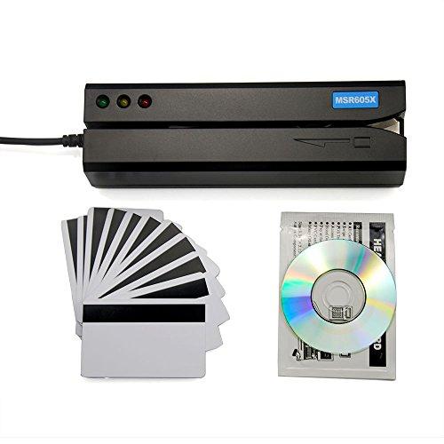 Deftun MSR605X USB-Kartenleser mit Magnetstreifen, zum Durchziehen, lesen und beschreiben MSR206