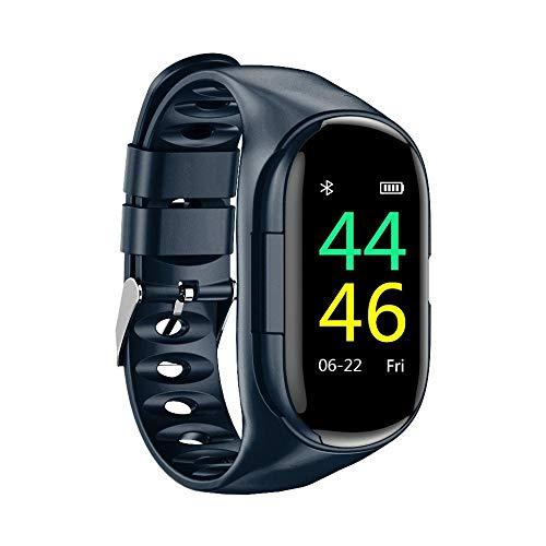 N/A Smart Armband TWS Kopfhörer 2-in-1 Smart Watch Fitness Tracker Schritte Kalorien Zähler Activity Tracker wasserdichte intelligente Armband Armband Herzfrequenz Sphygmomanometer,Blau