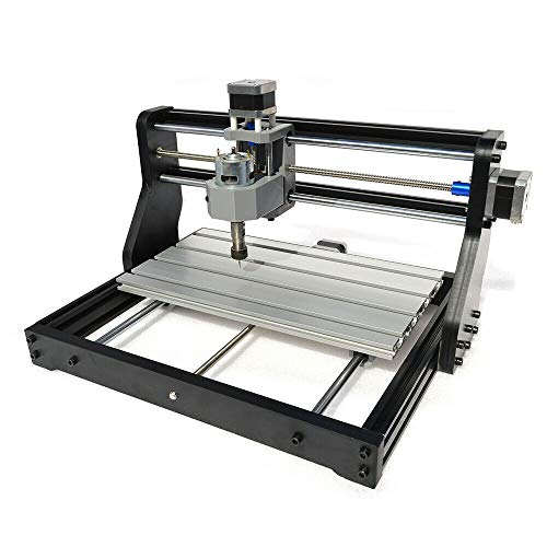 DIY CNC 3018 Engraver Milling Carving Machine Kit GRBL Control Desktop Engraving Carving Milling for Plastic Wood Acrylic Pvc Pcb Wood (300x180x45mm)
