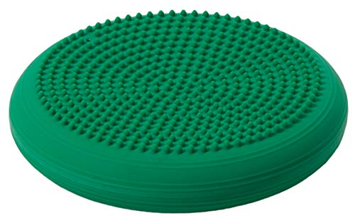 Togu Dynair Ball Cushion Senso, Green, 33cm Diameter, Inflated, Soft, Pliable, Spikey Massage Knobs, Improves Coordination, Stabilisation, Proprioceptive & Balance Trainer, Suitable for All Age Groups