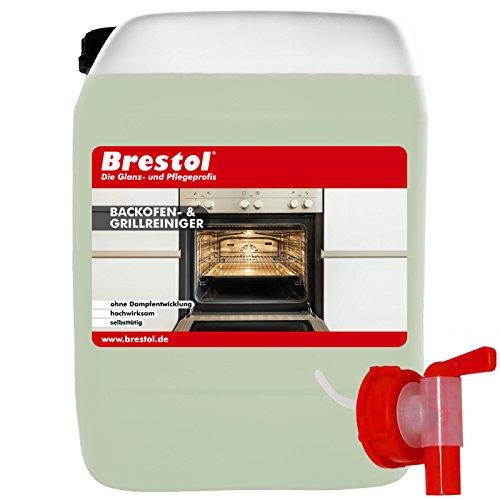 Oven- & grillreiniger 5 liter incl. kraan 51 mm - werkt automatisch - reiniger voor grillrooster oven wok raclette pan friteuse kookplaat fornuis open haard