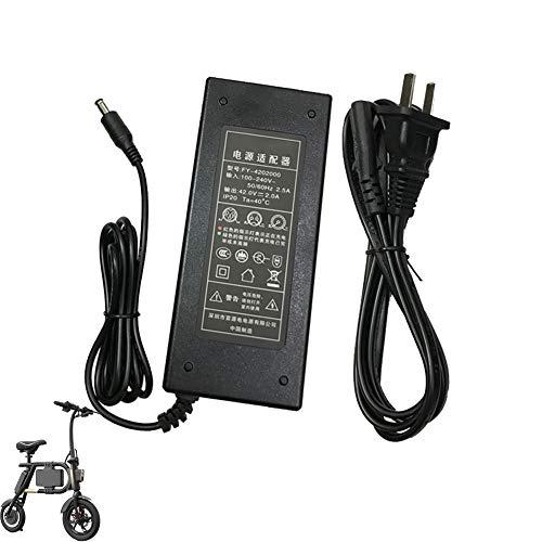 MAQLKC Cargador de Batería Adaptador para Inmotion P1F Eléctrico E Bike Fuente de alimentación Accesorios
